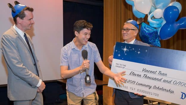Disneyland Resort honors 2019 Dreamers & Doers Luminary Vincent Tran with College Scholarship