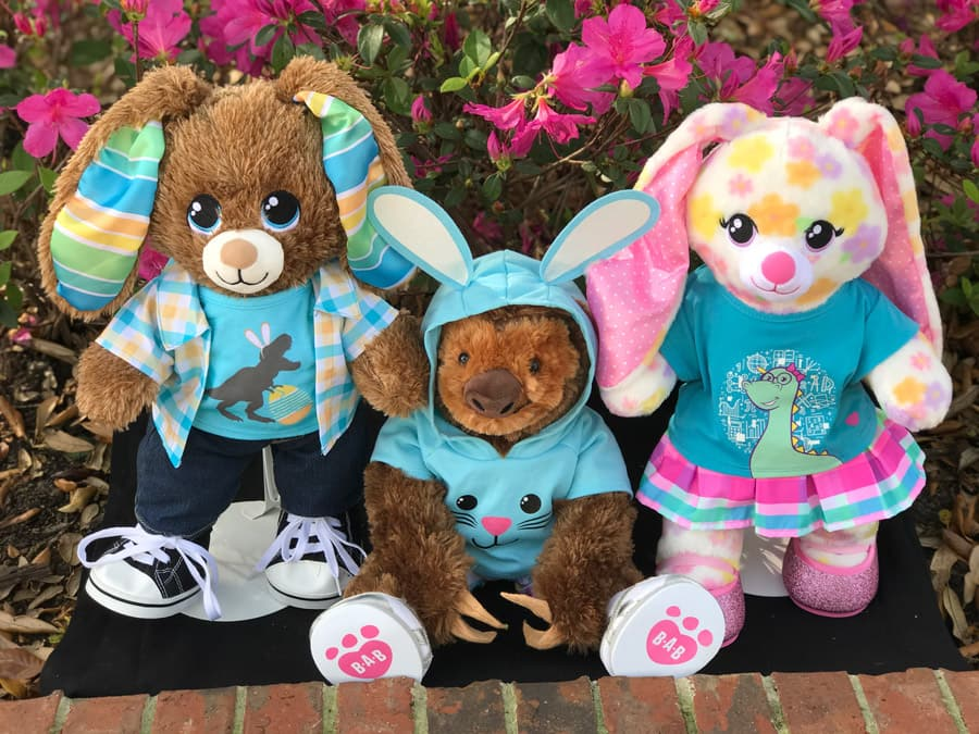 Customize your own bunny or sloth at Build-A-Bear Workshop at T-REX at Disney Springs