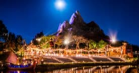 Full Moon Rises Over Expedition Everest & Rivers of Light