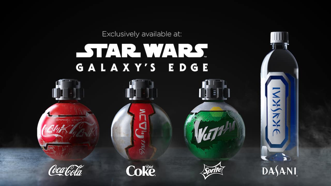 Specially Designed Coca-Cola Products Coming Exclusively to Star Wars: Galaxy's Edge