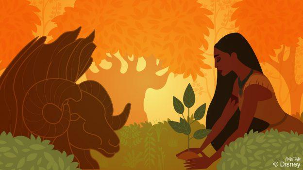 Pocahontas Earns a Green Thumb at Disney's Animal Kingdom