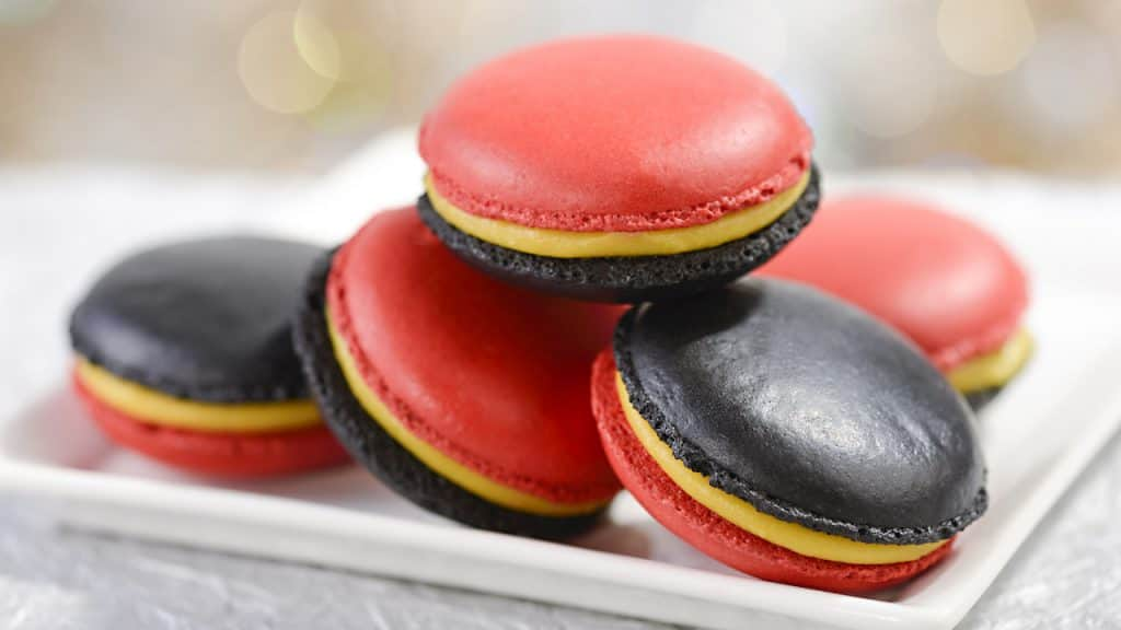 Incredibles Macarons from Market at Pixar Place and BaseLine Tap House at Disney's Hollywood Studios