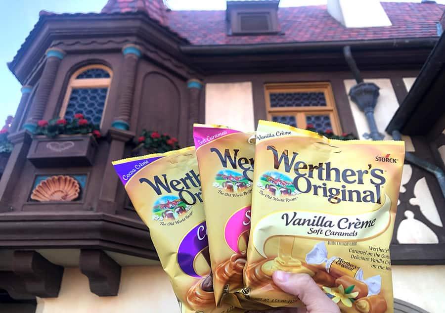Selection of Werther's Original Caramels found in Karamell-Küche at Epcot