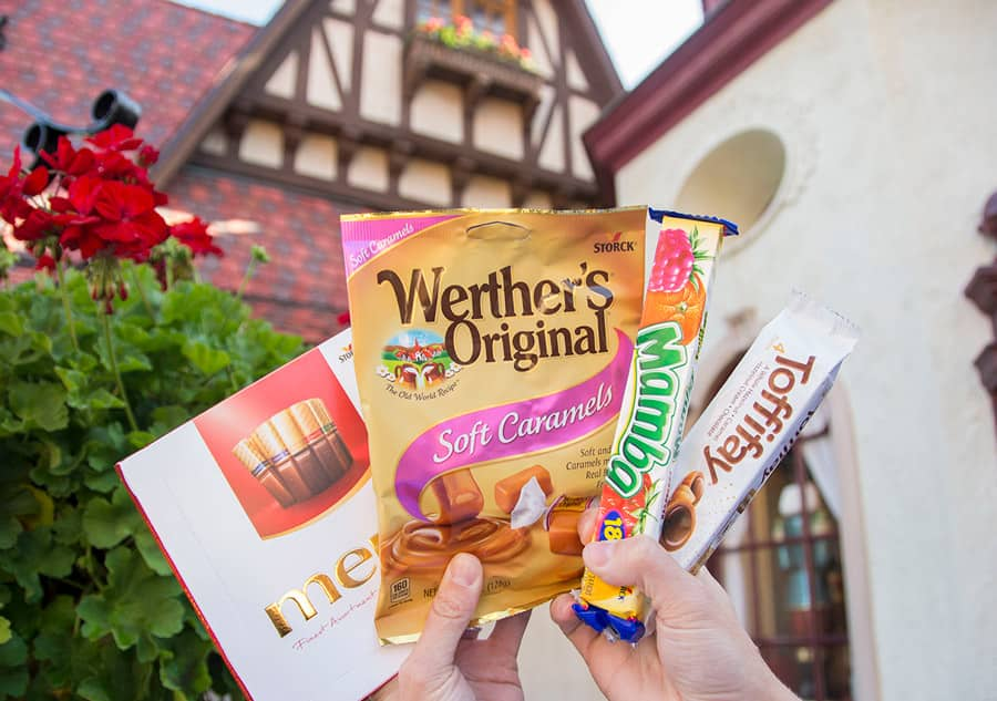 Selection of treats found in  Karamell-Küche at Epcot