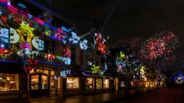 """Mickey's Mix Magic"" nighttime projection show at Disneyland park"