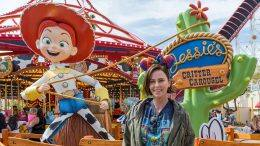 Actress Charlize Theron Has a Rootin' Tootin' Time at Disney California Adventure Park
