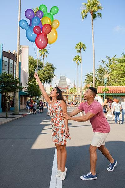 Main park entrance and Hollywood Boulevard