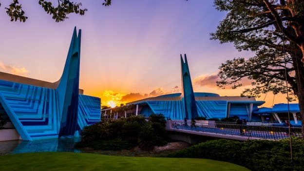 Sun Sets Over Tomorrowland at Tokyo Disneyland