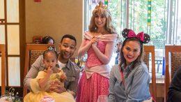 Chrissy Teigen and John Legend treat daughter Luna to new Disney Princess Breakfast Adventures at Disneyland Resort