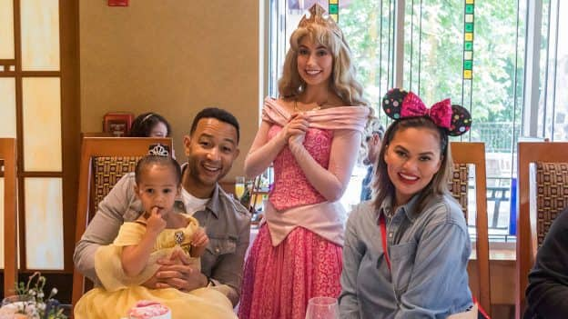 Chrissy Teigen and John Legend treat daughter Luna to new Disney Princess Breakfast Adventures at Disneyland Resort