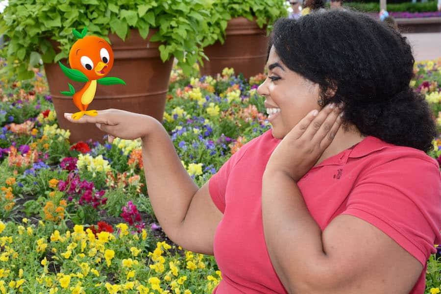 Disney PhotoPass Magic Shot in Epcot during Epcot International Flower & Garden Festival