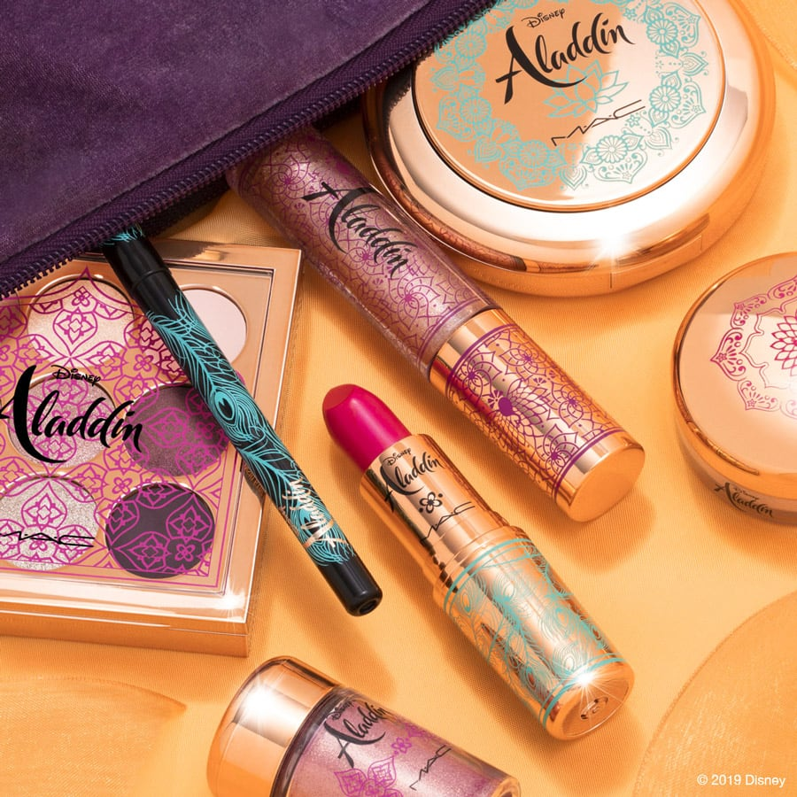 Variety of products from the Disney Aladdin Collection by M•A•C Cosmetics