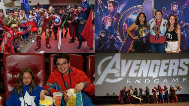 Photo collage from Avengers: Endgame Meet-up