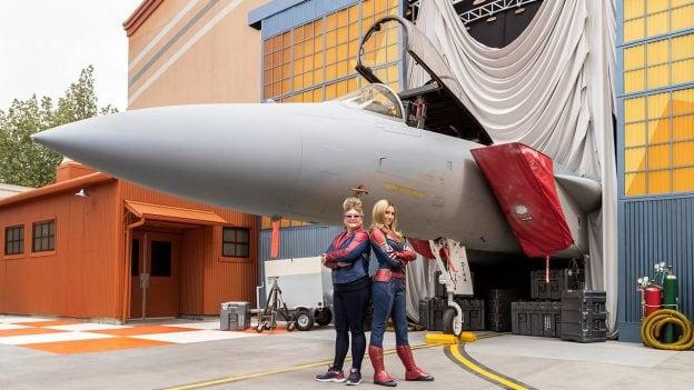 Experience a heroic encounter with Captain Marvel at Disney California Adventure park