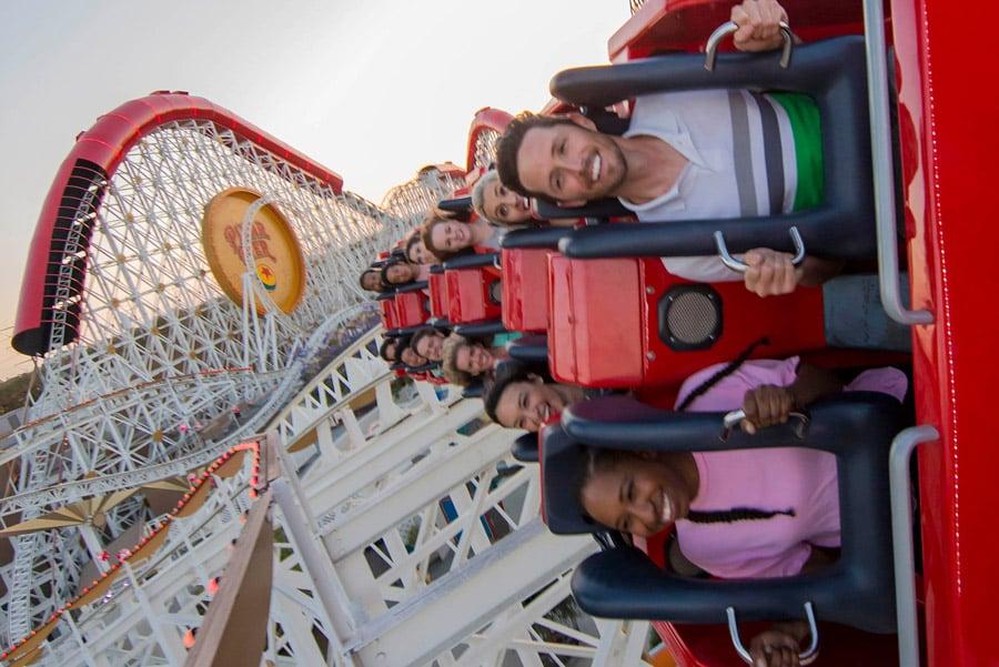 Incredicoaster in Disney California Adventure park