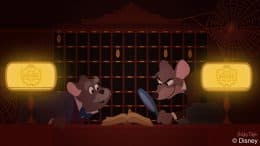 "Characters from the 1986 film ""The Great Mouse Detective"" explore The Twilight Zone Tower of Terror at Disney's Hollywood Studios"