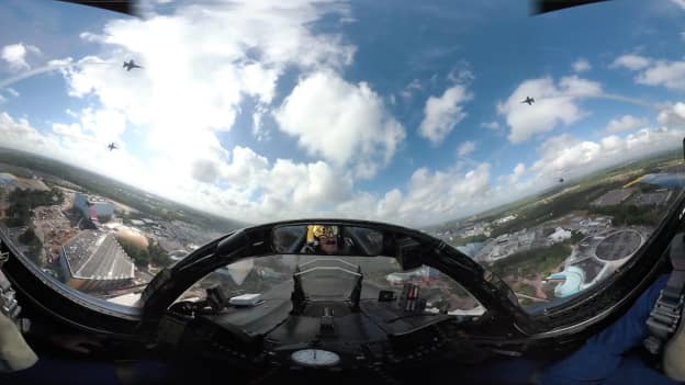 U.S. Navy Blue Angels Cockpit View Over Central Florida