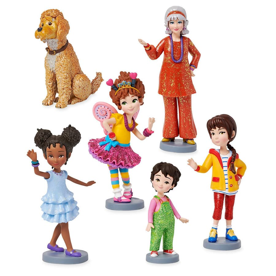 It is a photo of Crazy Fancy Nancy Characters
