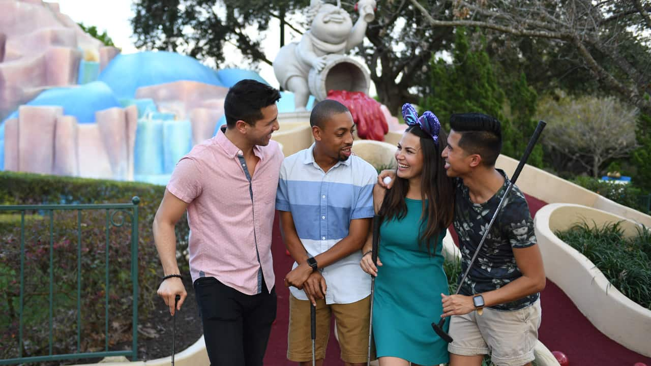 Find Your Happyplace Memories You Will Never Fore Get At Fantasia Gardens And Fairways Miniature Golf Disney Parks Blog