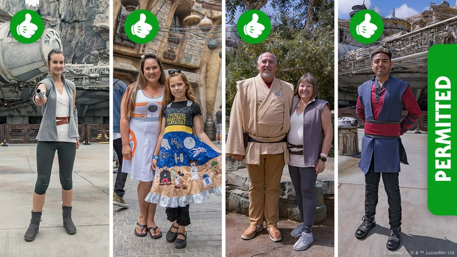 Bounding for your visit to Star Wars: Galaxy's Edge at Disneyland Resort - Permitted Attire