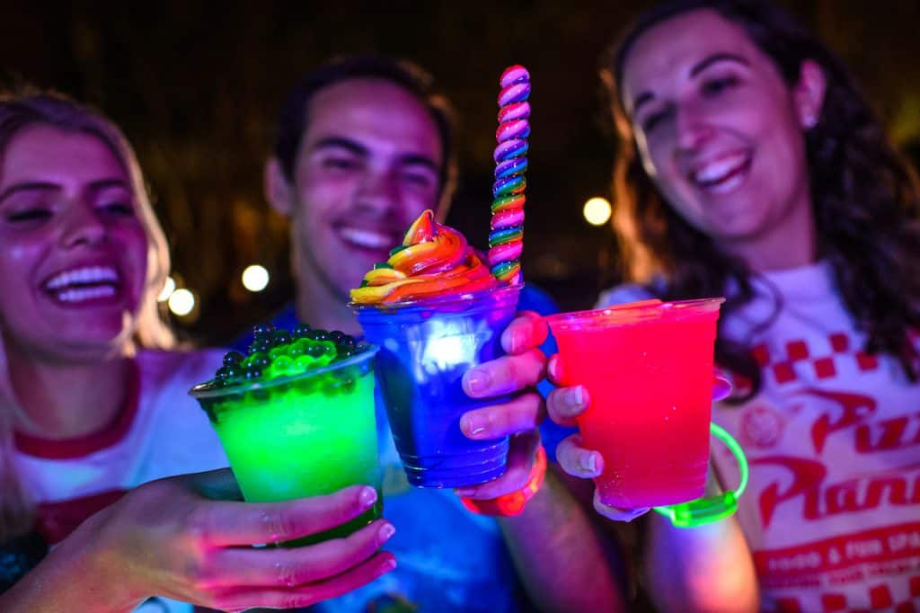 Specialty Beverages for H2O Glow Nights at Disney's Typhoon Lagoon