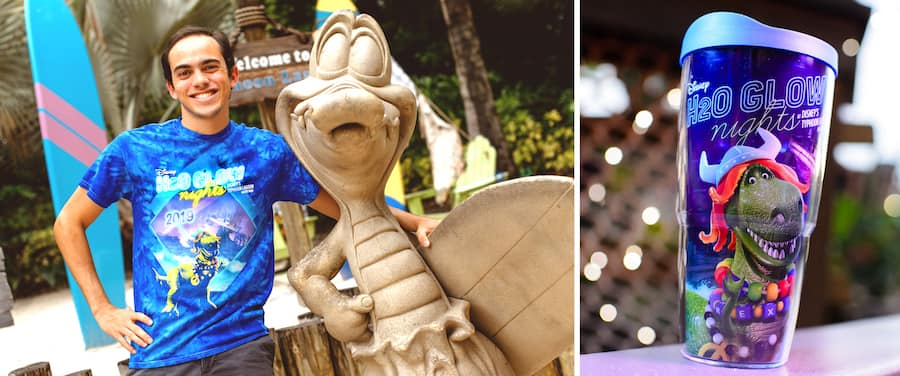 Specialty Merchandise for H2O Glow Nights at Disney's Typhoon Lagoon