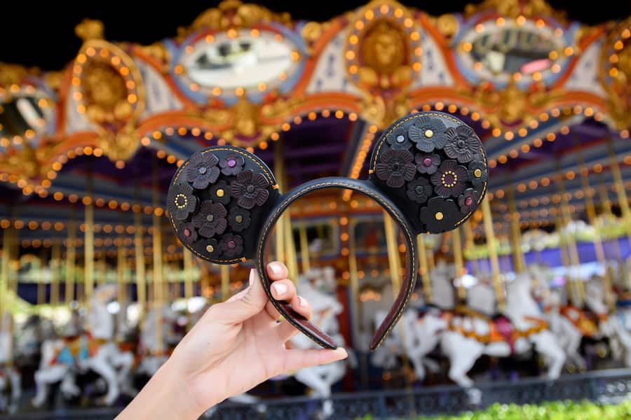 floral-inspired Mouse Ears ear headband by COACH