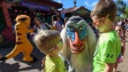 Kids with Rafiki During Hakuna Matata Time Dance Party at Disney's Animal Kingdom