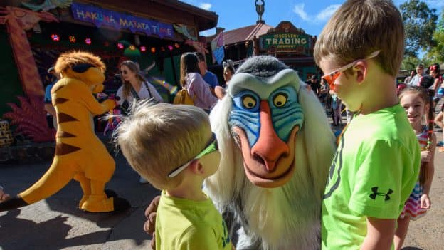Kids with Rafiki During Hakuna Matata Time Dance Party at Disney's Animal Kingdom