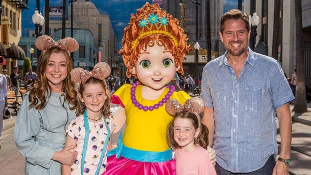 Actress Alyson Hannigan Celebrates Fancy Nancy's Arrival at Disneyland Resort