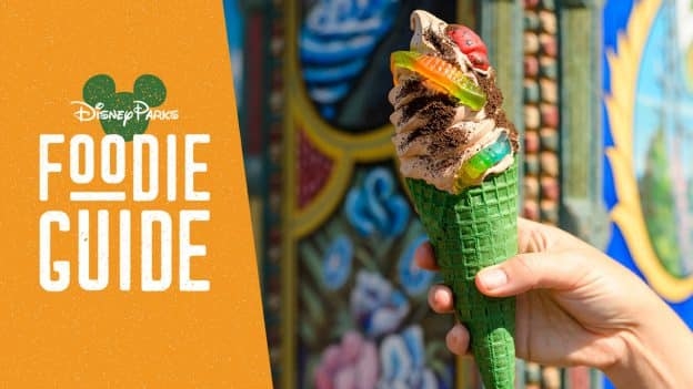 Foodie Guide to The Lion King Offerings at Disney's Animal Kingdom Theme Park and Disney's Animal Kingdom Lodge featuring Bugs 'n Grub Waffle Cone from Anandapur Bus and Trilo Bites at Disney's Animal Kingdom Theme Park