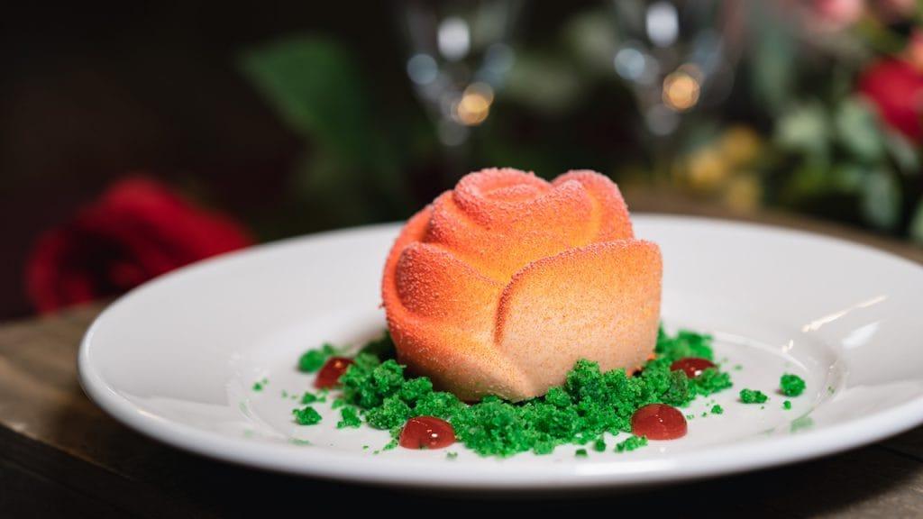 Rose Dessert at Blue Bayou Restaurant at Disneyland Park