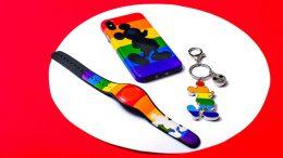 Rainbow Mickey MagicBand, Key Chain, Phone Case
