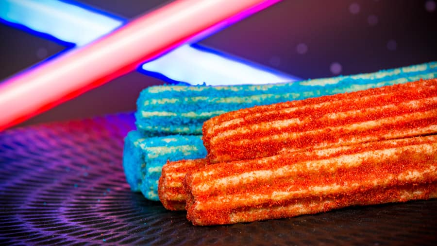 Red and Blue Churros from Tomorrowland at Disneyland Park