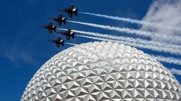 U.S. Navy Blue Angels Over Spaceship Earth