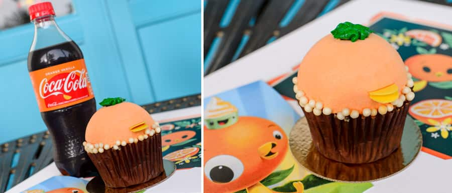 Orange Bird Cupcake and Orange Vanilla Coke from The Artist's Palette at Disney's Saratoga Springs Resort & Spa