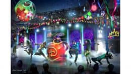 Rendering of DescenDance interactive dance party coming to the new Oogie Boogie Bash – A Disney Halloween Party at Disney California Adventure park