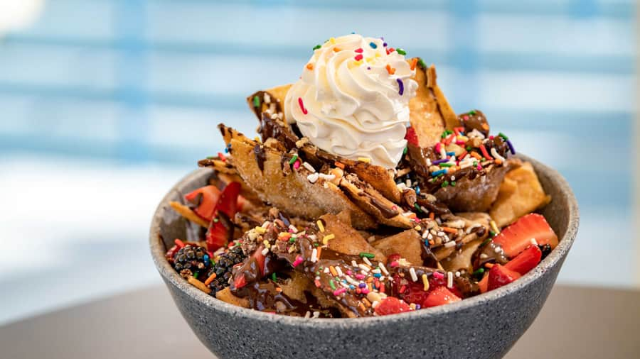 Confetti Dessert Nachos from the Sand Bar Lounge at Disney's Paradise Pier Hotel