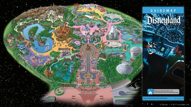 First Look: Guidemap for Star Wars: Galaxy's Edge at Disneyland Park on