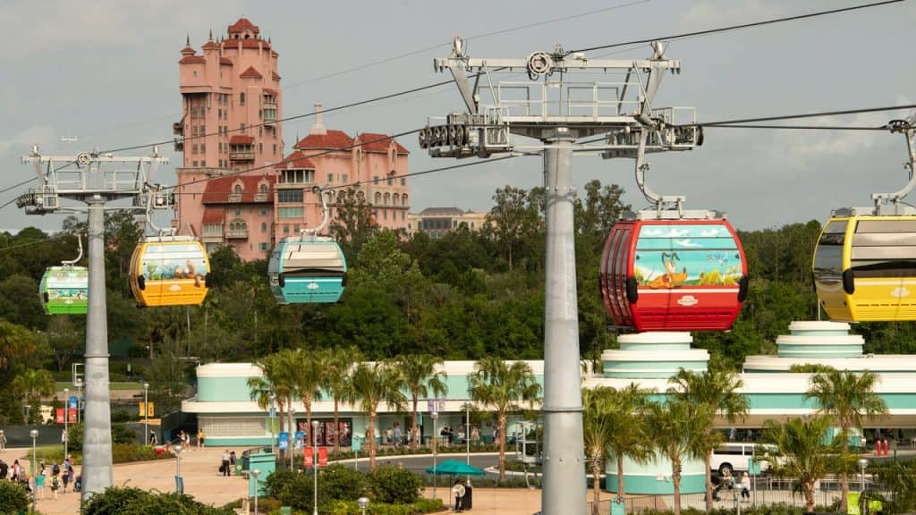 Disney themed gondolas, Walt Disney World Resort