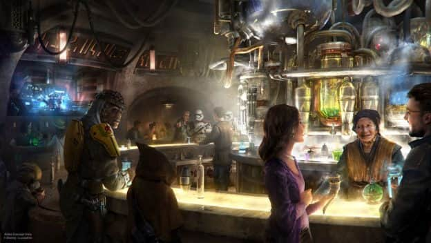 Oga's Cantina Rendering from Star Wars: Galaxy's Edge at Disney Parks