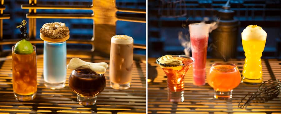 Assorted Beverages from Oga's Cantina at Star Wars: Galaxy's Edge