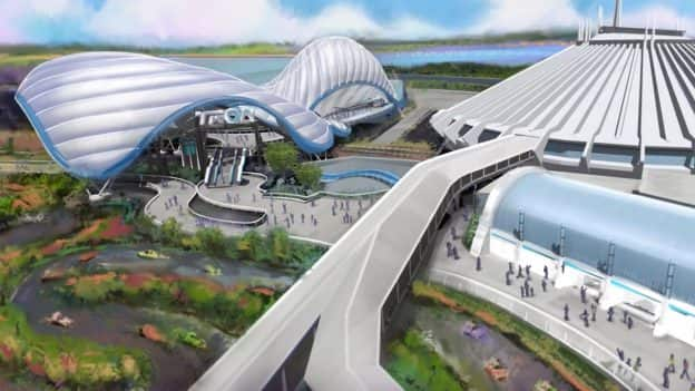 Rendering of TRON attraction coming to Magic Kingdom Park