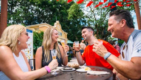 Guests at Epcot International Food & Wine Festival