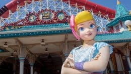 Bo Peep at Pixar Pier in Disney California Adventure park