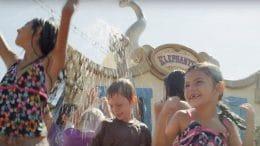 Kids play at the Casey Jr. Splash 'N' Soak Station at Magic Kingdom Park