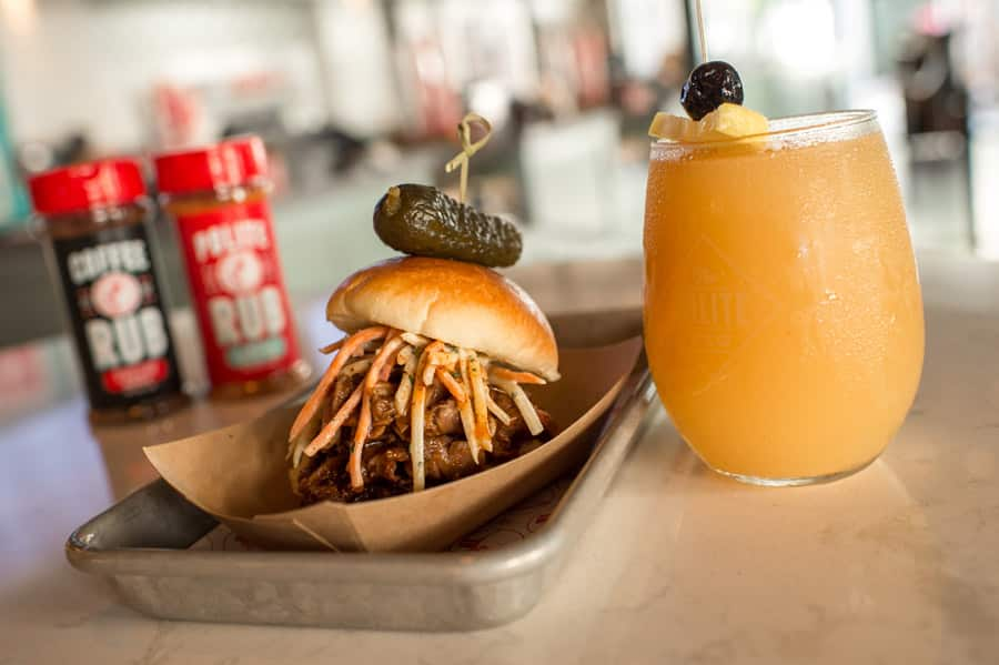Smoked Prime Rib Slider and Florida Mango Frosé from Disney Springs Flavors of Florida