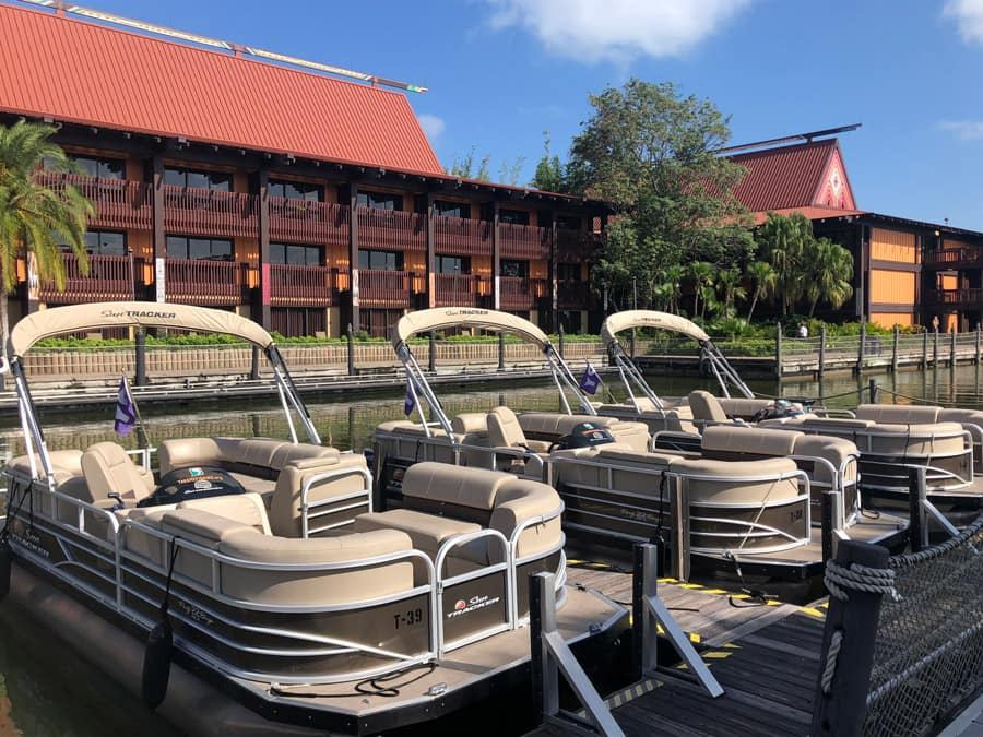Pontoon Boat rentals at Disney's Polynesian Village Resort