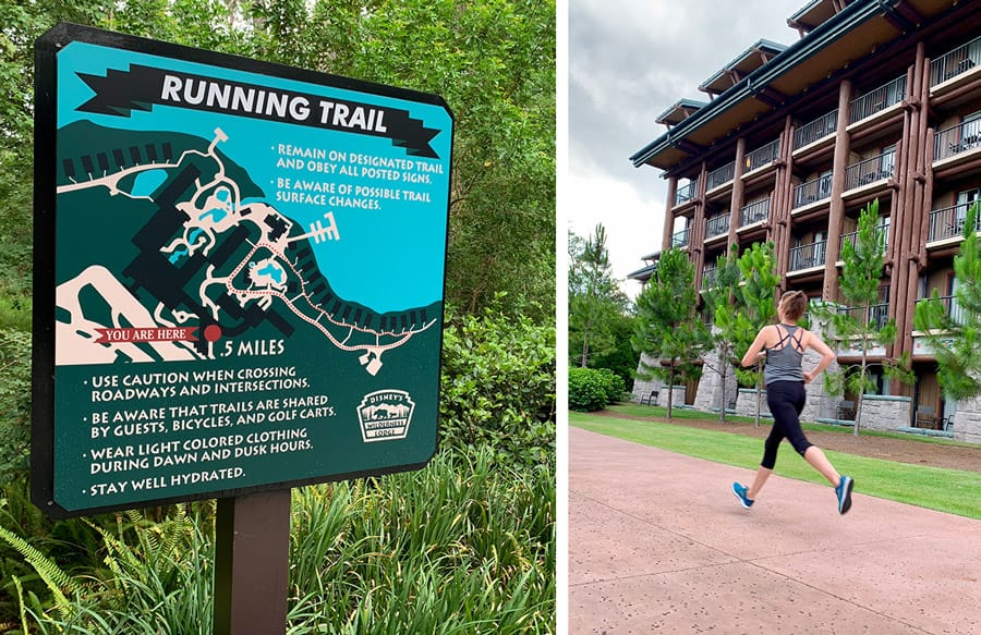 Running Trail at Disney's Wilderness Lodge Resort