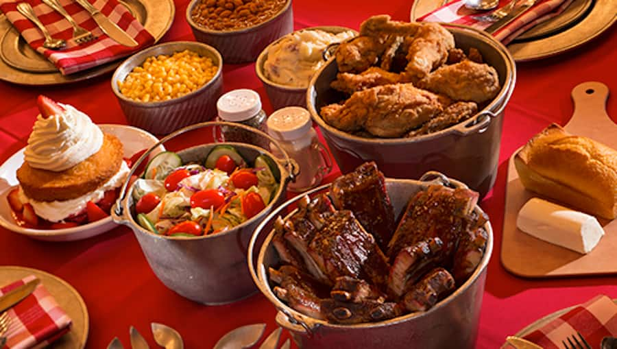 Food from Hoop-Dee-Doo Musical Revue